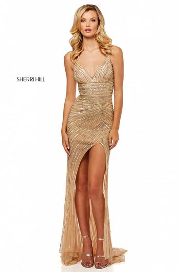 Rochie Sherri Hill 52515 Gold
