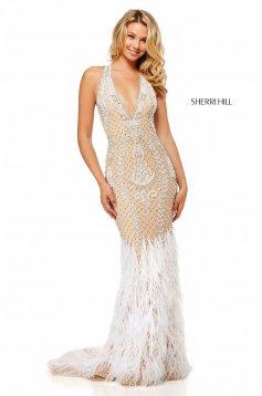 Rochie Sherri Hill 52518 Nude
