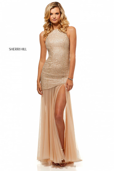 Rochie Sherri Hill 52520 Nude