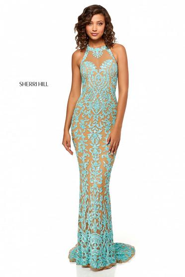 Rochie Sherri Hill 52527 Aqua