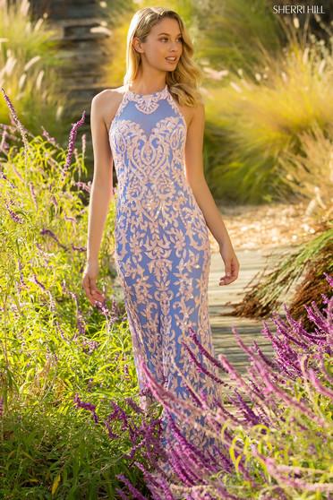 Rochie Sherri Hill 52527 Blue