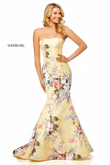Rochie Sherri Hill 52551 Yellow