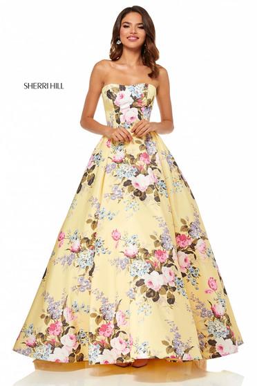 Rochie Sherri Hill 52553 Yellow