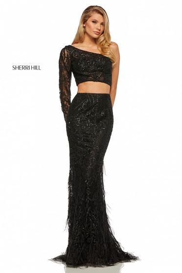 Rochie Sherri Hill 52555 Black