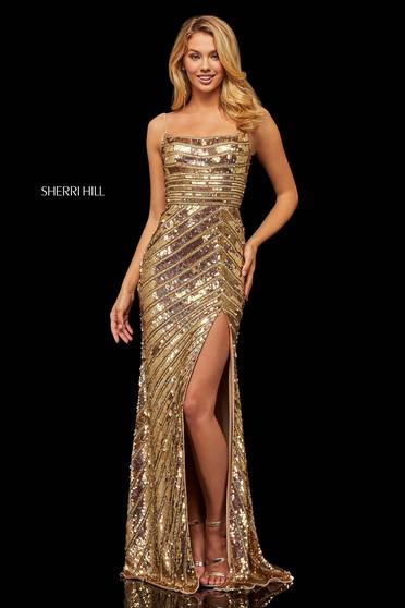 Rochie Sherri Hill 52558 Gold