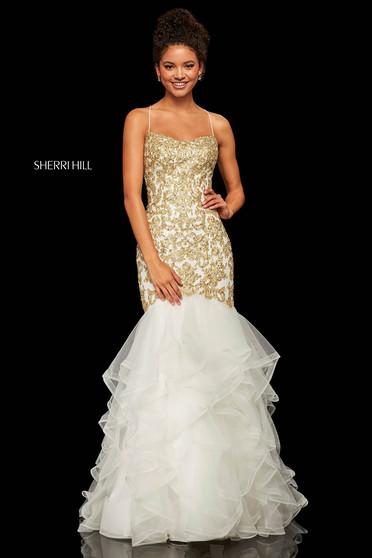 Rochie Sherri Hill 52560 White