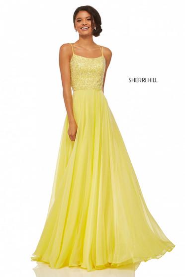 Rochie Sherri Hill 52591 Yellow