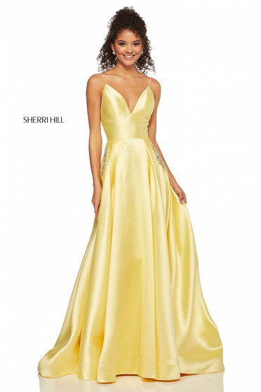 Rochie Sherri Hill 52597 Yellow