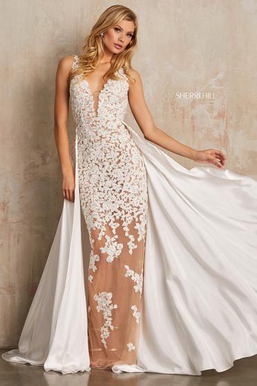 Rochie Sherri Hill 52599 White
