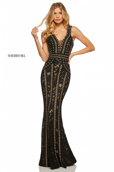 Rochie Sherri Hill 52611 Black