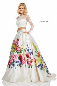 Rochie Sherri Hill 52625 White