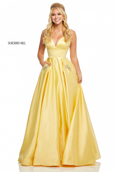 Rochie Sherri Hill 52629 Yellow