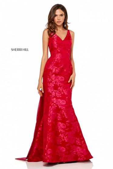 Rochie Sherri Hill 52637 Red