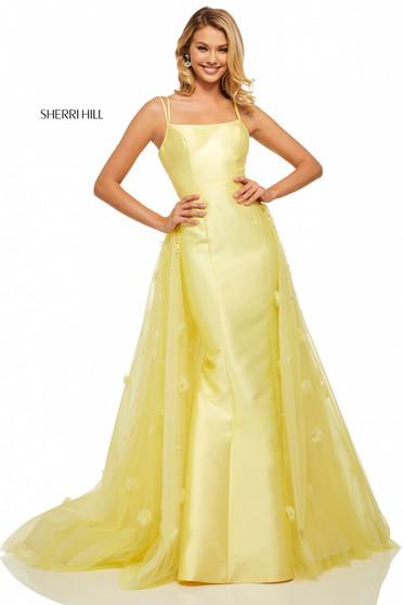 Rochie Sherri Hill 52638 Yellow
