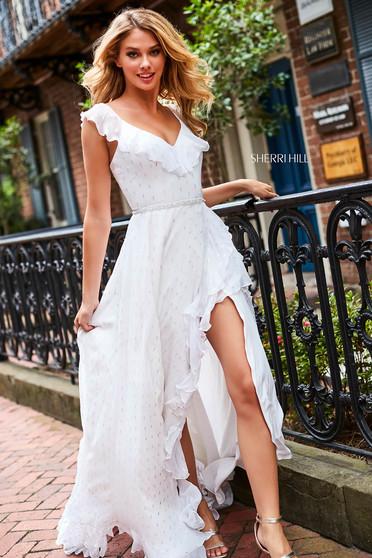 Rochie Sherri Hill 52643 White
