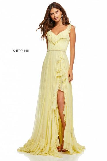 Rochie Sherri Hill 52643 Yellow