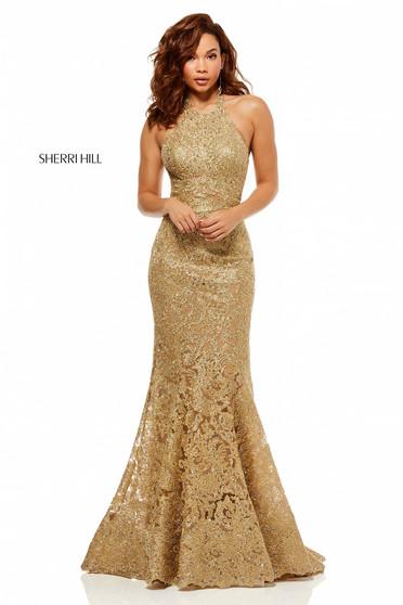 Rochie Sherri Hill 52644 Gold