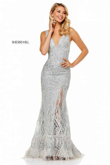Rochie Sherri Hill 52649 Silver
