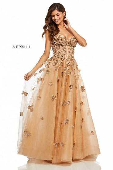 Rochie Sherri Hill 52651 Gold