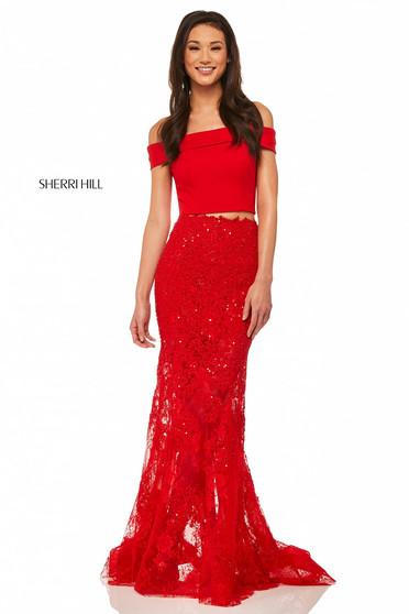 Rochie Sherri Hill 52653 Red