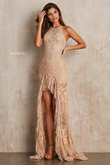 Rochie Sherri Hill 52663 Nude