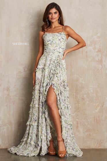 Rochie Sherri Hill 52665 White