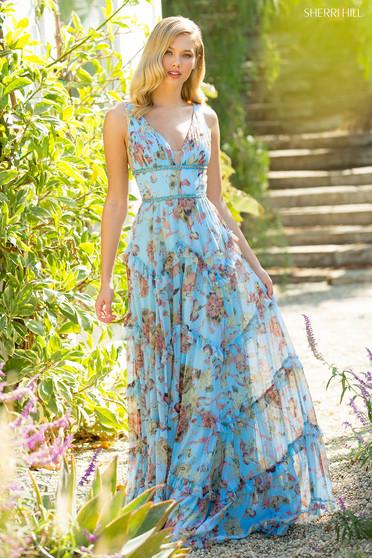 Rochie Sherri Hill 52667 Blue