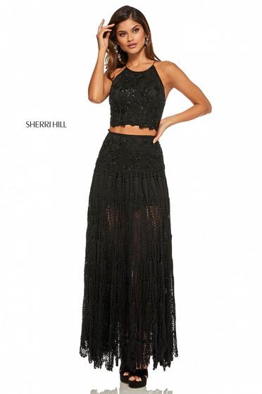 Rochie Sherri Hill 52671 Black