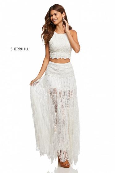 Rochie Sherri Hill 52671 White