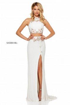 Rochie Sherri Hill 52682 White