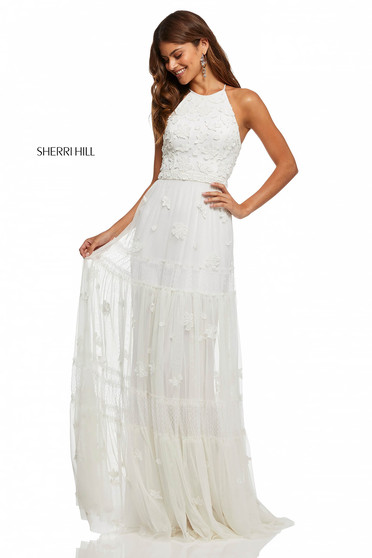 Rochie Sherri Hill 52687 White