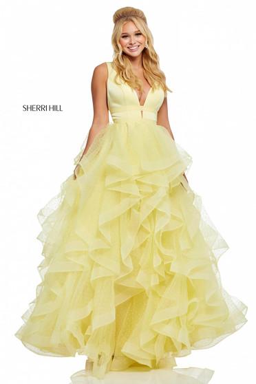 Rochie Sherri Hill 52691 Yellow