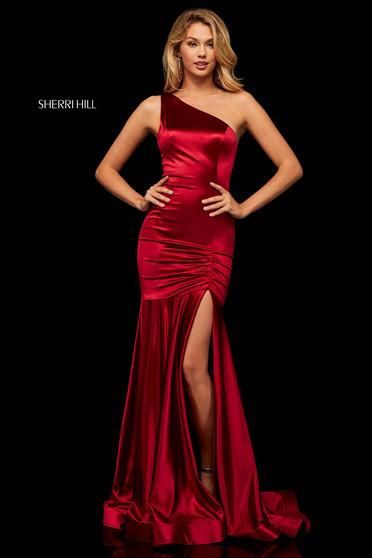 Rochie Sherri Hill 52700 Burgundy