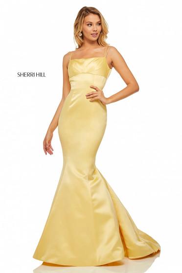 Rochie Sherri Hill 52721 Yellow