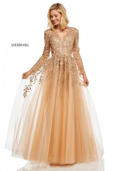 Rochie Sherri Hill 52746 Gold