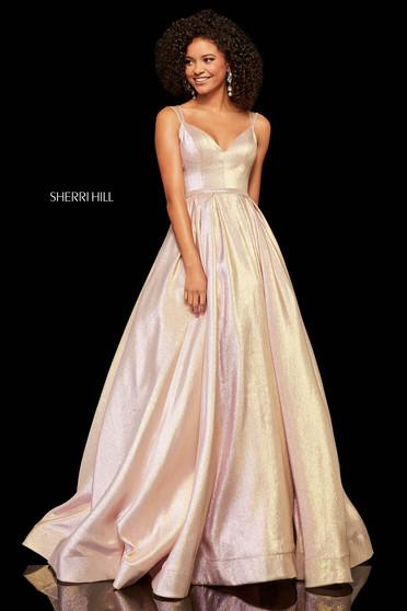 Rochie Sherri Hill 52755 Gold
