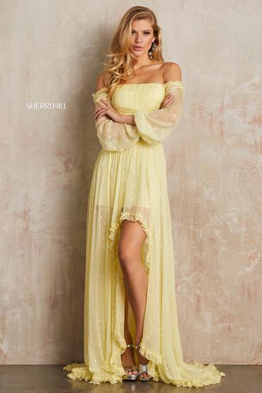Rochie Sherri Hill 52756 Yellow