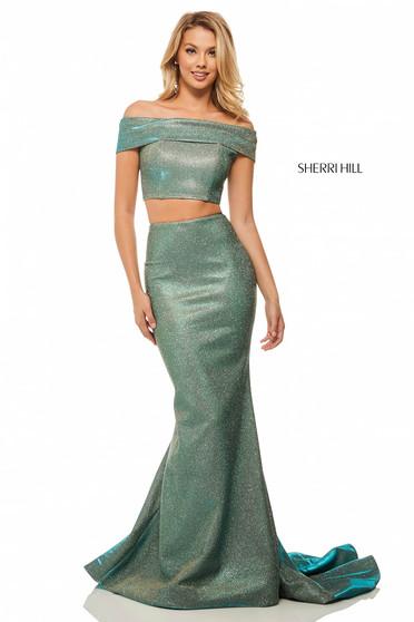 Rochie Sherri Hill 52757 Aqua
