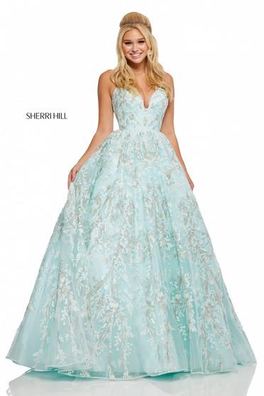 Rochie Sherri Hill 52759 Blue