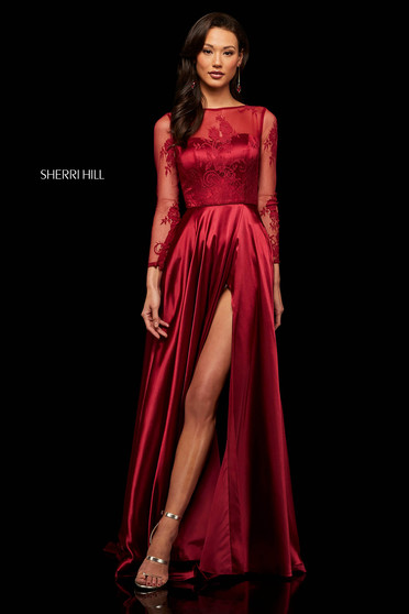 Rochie Sherri Hill 52765 Burgundy