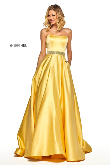 Rochie Sherri Hill 52776 Yellow