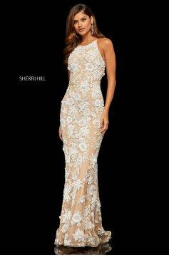 Rochie Sherri Hill 52778 White