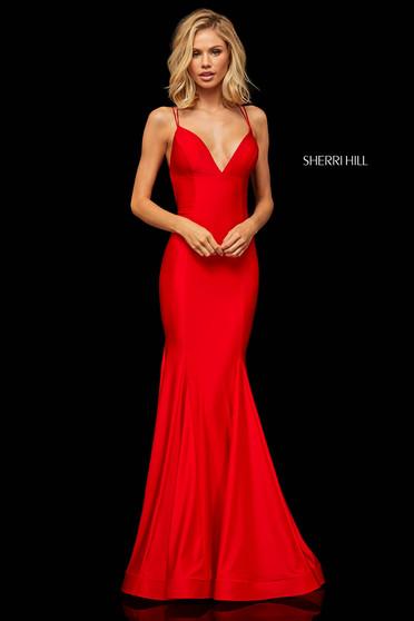 Rochie Sherri Hill 52779 Red