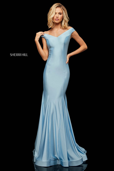 Rochie Sherri Hill 52783 LightBlue