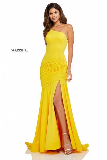 Rochie Sherri Hill 52789 Yellow
