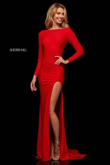 Rochie Sherri Hill 52791 Red