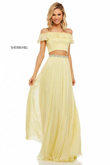 Rochie Sherri Hill 52800 Yellow