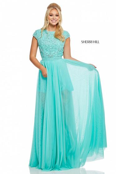 Rochie Sherri Hill 52801 Turquoise