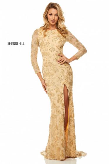 Rochie Sherri Hill 52804 Gold