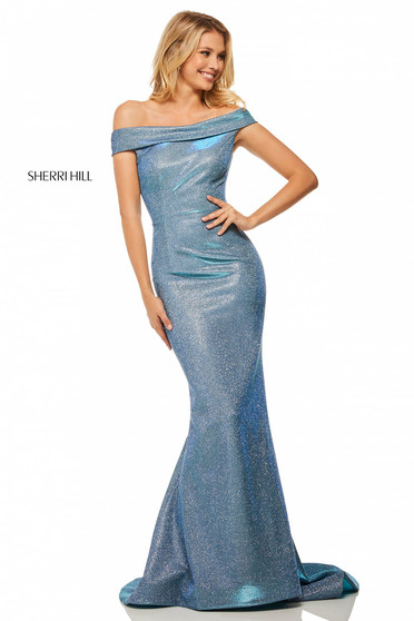 Rochie Sherri Hill 52825 Blue